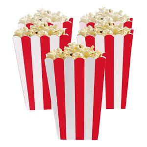 Amscan Popcornbägare Röda Randiga - 5-pack