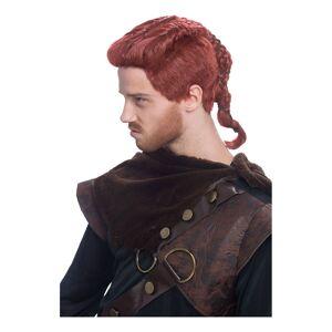 Viking Rödbrun Peruk - One size