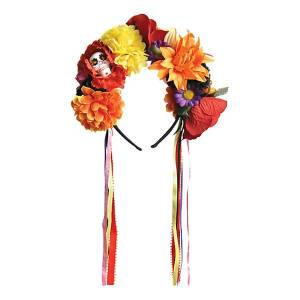 Amscan Day of the Dead Diadem med Blommor - One size