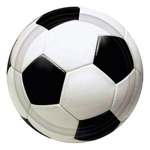 Amscan Fotboll Pappersassietter - 8-pack