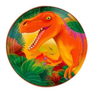 Amscan Pappersassietter Dinosaurier - 8-pack