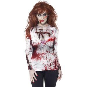 Vegaoo.se Sexig zombie t-skjorta vuxen Halloween - L