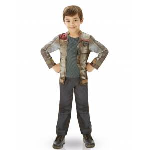 Vegaoo.se Kostym Luxe Finn - Star Wars VII barn - 105 - 116 cm (5 - 6 år)