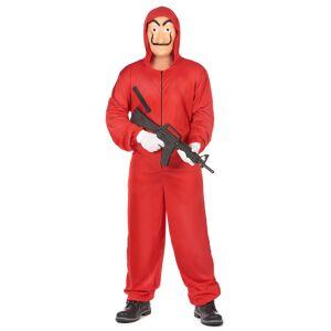 Vegaoo.se Casa de Papel röd rånaroverall ungdom - S/M (160-175 cm)