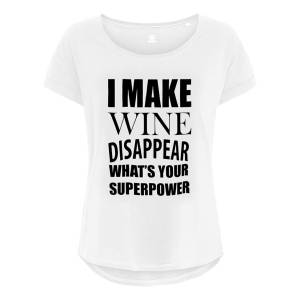 Netshirt.se I Make Wine Disappear Dam T-shirt - Medium