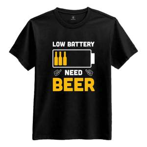 Netshirt.se Low Battery Need Beer T-shirt - X-Large