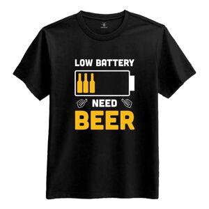 Netshirt.se Low Battery Need Beer T-shirt - Medium
