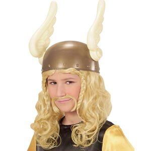 Viking Blond Asterix/Viking Peruk till Barn med Mustasch