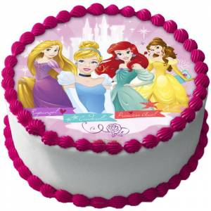 Disney Prinsessor Tårtbild Sockerpasta B