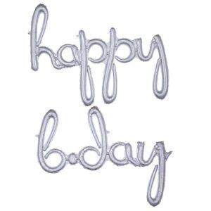 AMSCAN Holografisk Happy B-day Folieballong