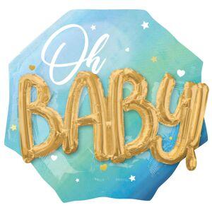 AMSCAN Oh Baby 3D Folieballong Ljusblå