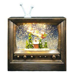 Vattenfylld TV Lykta med Ljud och Ljus