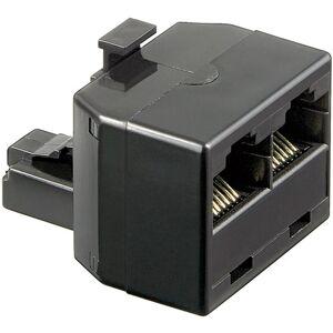 Goobay ISDN T-Adapter RJ45 han (8P8C) til 2 RJ45 hun (8P8C) - 1 stk.