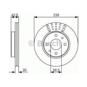Bosch Sats om 2 bromsskivor  (0 986 479 082)