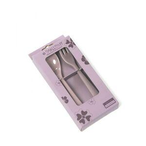 Smallstuff, Giftbox girl fork and spoon, Flower Dark rose
