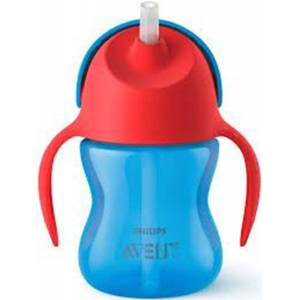 Philips Avent Straw Cup 200 ml Bl/Rd