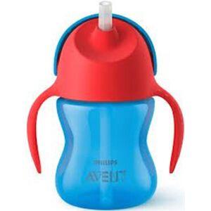 Philips Avent Straw Cup 200 ml Blå/Rød
