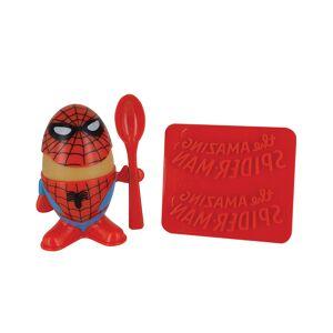 Spider-Man Frokostsett med Eggskål, Skje og Toast-Kutter