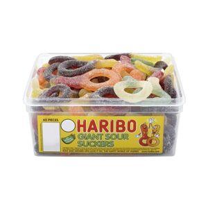 60 stk Haribo Giant Sour Suckers - Boks med Store Sure Smokker