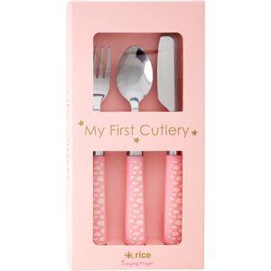 RICE Barnbestick med Plasthandtag, Cloud Pink