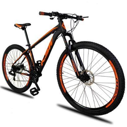 Bicicleta Aro 29 KSW XLT 21v Cmbios Shimano Freio a Disco Mecnico com Suspenso - Unissex