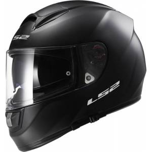 LS2 FF397 VECTOR Solid musta umpikypärä