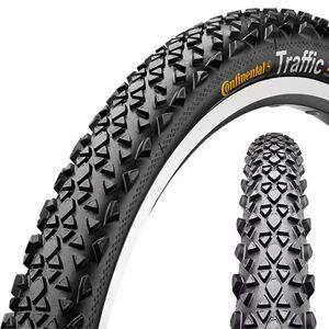 """Continental Traffic Sykkeldekk 26 x 1.9"""" refleks kanttråd Svart 50-559   26 x 1.9 2019 Dekk til barnesykler og sykkelvogner"""