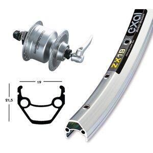 Bike-Parts Sykkel deler 28 tommer Exal ZX 19 hjul + senteret Dynamo DH-3N72 (Q...