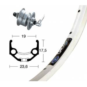 Bike-Parts Bike parts 28″ Rigida Zac 19 wheel + hub Dynamo DH-3N72 (QR) Shimano