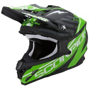 Scorpion VX-15 Evo Air Gamma Krysse hjelm Svart Grønn XL