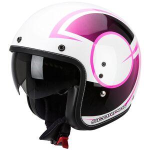 Scorpion Belfast Citurban Jet hjelm Hvit Lilla M