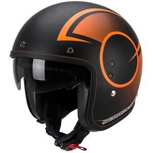 Scorpion Belfast Citurban Jet hjelm Svart Oransje XS