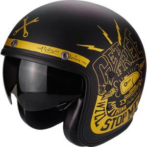 Scorpion Belfast Fender Jet hjelm Svart Gull XL