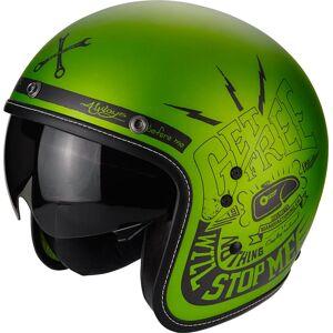 Scorpion Belfast Fender Jet hjelm Svart Grønn 2XL