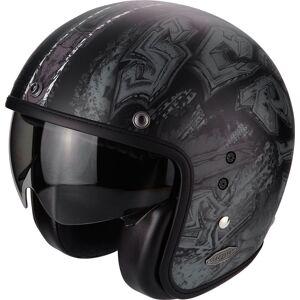 Scorpion Belfast Urbex Jet hjelm Svart Sølv L