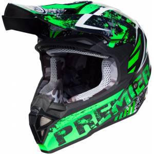Premier Exige ZX7 Motocross hjelm Svart Grønn XS