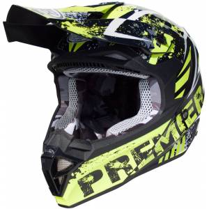 Premier Exige ZXY Motocross hjelm Svart Grønn XL