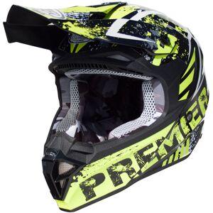 Premier Exige ZXY Motocross hjelm Svart Grønn L
