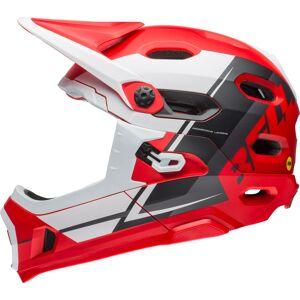 Bell Super DH Mips Downhill Hjelm Svart Hvit Rød L
