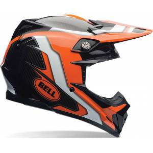 Bell Moto-9 Flex Factory Motocross hjelm 2XL Svart Oransje