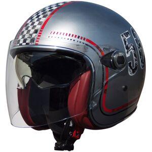 Premier FL Silver Chromed Jet hjelm M Sølv
