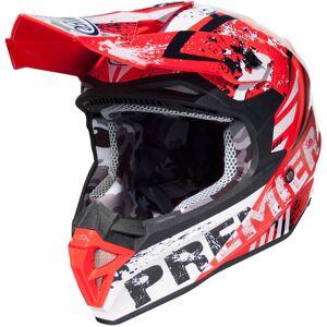 Premier Exige ZX2 Motocross hjelm S Hvit Rød