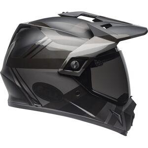 Bell MX-9 Adventure Mips Blackout Motocross hjelm XL Svart Rød Sølv