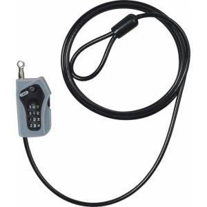 ABUS Combiloop 205 Stål kabel 200 cm Svart