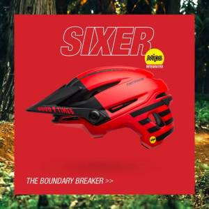 Bell Sixer MIPS Fasthouse matte Red/Black Limited Sykkelhjelm