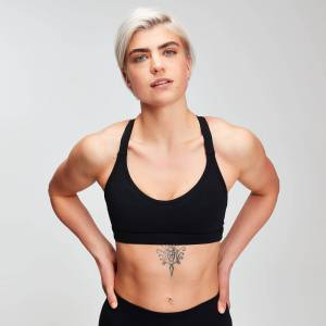 MP Power Mesh Sports Bra för kvinnor – Svart - M