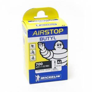 Michelin Cykelslang Michelin Airstop 25/32 x 622 Prestaventil 40mm