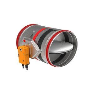AIR2TRUST Brandspjæld FDC25160 med 25 mm spjældblad og termoudløser på 72°C testet iht. DS/EN13501-3, klassificeret iht. DS428-4/EN1366-2 +A1.