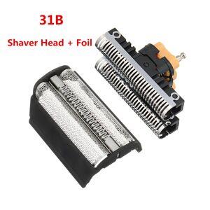 Braun Shaver Head + Foil for BRAUN Shaver Head Foil 31b 5000/6000 Series 360 380 5312 5485 5610 6515 6518 6520 6525 6550