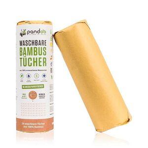 Pandoo Køkkenrulle Af Bambus Genanvendelig - 1 Pakk